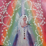 Chakra Paintings - Chakra Fairy by Susan Snow Voidets