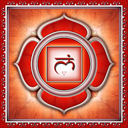 Buddhism Metal Prints - Chakra Muladhara Series 2011 Metal Print by Dirk Czarnota
