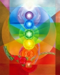 Spiritual Prints - Chakra Painting Print by Dina Herrmann