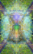 Radiating Light Digital Art - Chakra Tree Anatomy with Mercaba in Chalice Garden by Christopher Pringer