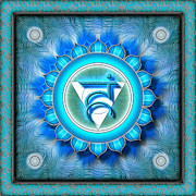 Throat Chakra Framed Prints - Chakra Vishuddha Series 2010 Framed Print by Dirk Czarnota