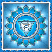 Light Blue Chakra Prints - Chakra Vishuddha Series 2011 Print by Dirk Czarnota