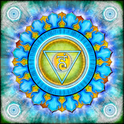 Throat Chakra Framed Prints - Chakra Vishuddha Series 2012 Framed Print by Dirk Czarnota