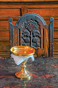 Marble Top Table Prints - Chalice Print by Dave Mills