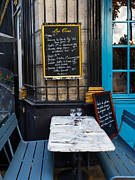 Chez Prints - Chalkboard at an outdoor cafe in Paris Print by Louise Heusinkveld