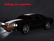 Challenger Digital Art - Challenge the Competition by Calvin Mullins