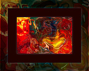Fall Photos Mixed Media Prints - Challenges and Moments in Time Abstract Healing Art Print by Omaste Witkowski