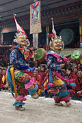 Two Individuals Posters - Cham Dances - Kham Tibet Poster by Craig Lovell