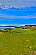 Pga Photo Framed Prints - Chambers Bay - Hole #1 Framed Print by David Patterson