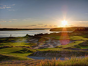 South Puget Sound Prints - Chambers Bay Sun Flare Print by Chris Anderson