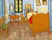 Arles Painting Framed Prints - Chambre in Arles Framed Print by Vincent Van Gogh