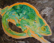 Chameleon Paintings - Chameleon. by Agnieszka Praxmayer