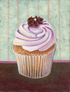Black Diet Paintings - Champagne Chic Cupcake by Marco Sivieri