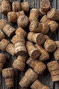 Stopper Photo Metal Prints - Champagne corks Metal Print by Garry Gay