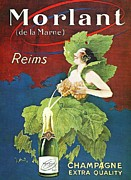 Advertisment Paintings - Champagne - Extra Quality by Reproduction