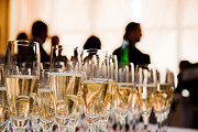 Champagne Glasses Photo Posters - Champagne glasses at the party Poster by Michal Bednarek