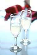 Pour Prints - Champagne glasses Print by Isabel Poulin