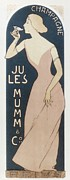 Champagne Posters - Champagne Jules Mumm And Co 1894 Poster by Everett