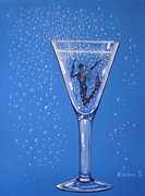 Champagne Paintings - Champagne Maker by Ksusha Scott
