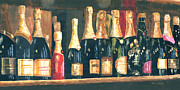 Sparkling Wine Painting Framed Prints - Champagne Row Framed Print by Will Enns
