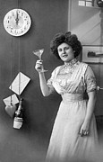 Toasting Art - Champagne Toast At Midnight by Underwood Archives