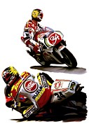 Art Lithographs Prints - Champion 34  Kevin Schwantz Print by Iconic Images Art Gallery David Pucciarelli