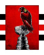 Nhl Hockey Framed Prints - Champion Blackhawks Framed Print by Jason Meents