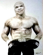 Legend  Pastels - Champion Boxer and Actor Mike Tyson by Jim Fitzpatrick