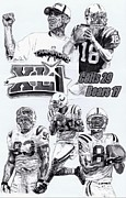 Pro Football Drawings Posters - Champion Colts Poster by Jonathan Tooley
