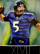 Nfl Pastels Prints - Champion Print by Michael Alvarez