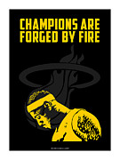 Lebron Digital Art Framed Prints - Champions Are Forged By Fire Framed Print by Toxico