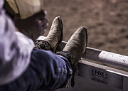 George Paul Memorial Rodeo Prints - Champions Boots Print by Amber Kresge