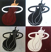 Miami Heat Painting Originals - Champions by Dawn Iraci