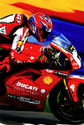 Champion Prints - Champions Grit  Carl Fogarty Print by Iconic Images Art Gallery David Pucciarelli