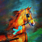 Horses In Harness Prints - Champions Headshot Print by Judy Robichaux