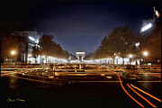Champs Elysees Framed Prints - Champs Elysees at Night Framed Print by Chuck Staley