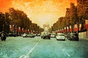 Champs Elysees Framed Prints - Champs Elysees Old World Framed Print by Carol Groenen