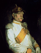 Iron  Paintings - Chancellor Otto Von Bismarck by Franz Seraph von Lenbach