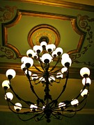 Jsm Fine Arts Halifax Prints - Chandelier in Hotel Lobby Print by John Malone