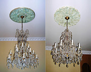 Medallion Paintings - Chandelier Medallions by Lizi Beard-Ward