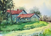 Spencer Meagher Art - Chandler Hill Farmhouse by Spencer Meagher