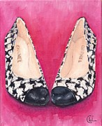 Hounds Originals - Chanel Hounds-tooth Cap Toe Heels by Cecely Bloom