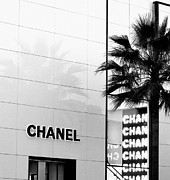 Beverly Hills Digital Art Metal Prints - Chanel on Rodeo Drive Metal Print by Ronnie Caplan