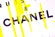 Fashionista Posters - Chanel Yellow Poster by Lisa Eryn