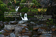 Affirmation Posters - Change A Life Poster by Ronald Suffron