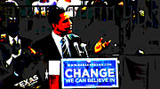Barack Obama Digital Art Posters - Change Poster by Bryan Eaton