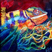 Chameleon Paintings - Change is the Essence of Life by Jennifer Ferdinandsen