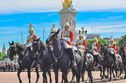 Buckingham Palace Digital Art Originals - Change of Horse  Guards by Anusha Hewage