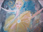 Stage Painting Originals - Changement Ballet by Judith Desrosiers