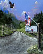 Patriotic Painting Originals - Changing America by Russell Bentley